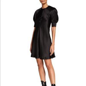 ALEXANDER MCQUEEN | Black silk mini dress